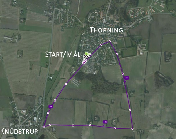 Rute for Tour de Thorning